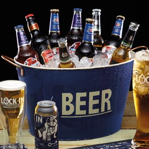 Lock In Large Tin Beer Pail & Cooler