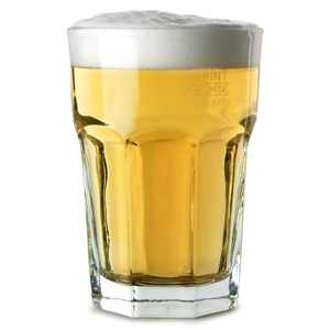 Gibraltar Original Beverage Glasses 12oz LCE at 10oz