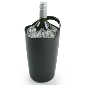 Double Walled Wine Cooler Black