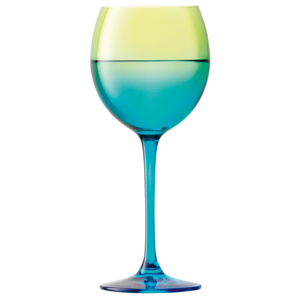 LSA Mezzo Wine Glasses Lime/Turquoise 14oz / 400ml