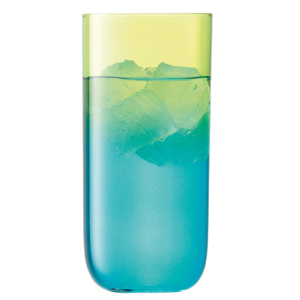 LSA Mezzo Hiball Glasses Lime/Turquoise 17.2oz / 490ml