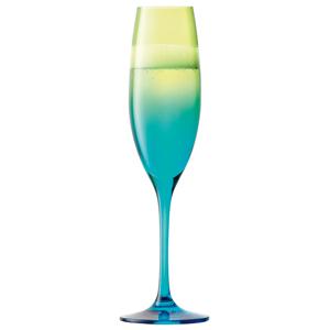 LSA Mezzo Champagne Flutes Lime/Turquoise 7.9oz / 225ml