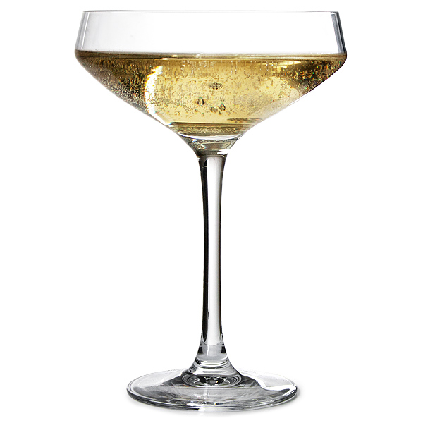 Cabernet coupe champagne saucers 300ml for Buy champagne glasses online