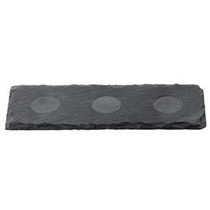 Slate 3 Recess Oblong Tray 30 x 10cm