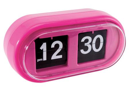 Pink Jellybean Flip Clock