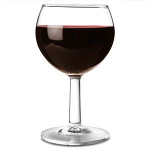 Ballon Wine Glasses Tempered 6.7oz LCE at 125ml