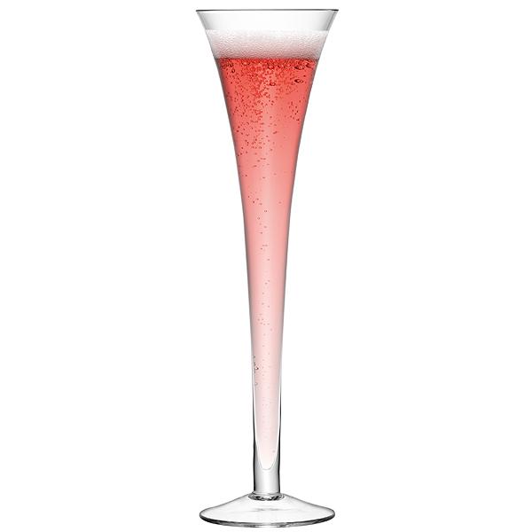 Lsa hollow stem giant champagne flutes 225ml champagne glasses lsa glassware buy at - Champagne flutes hollow stem ...