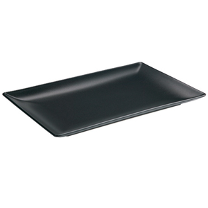Midnight Rectangular Coupe Plate Black 30 x 20cm