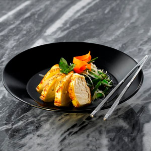 Midnight Soup Plate Black 23cm