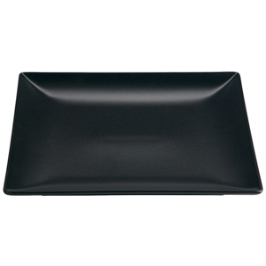 Midnight Square Coupe Plate Black 26cm