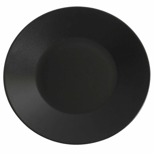 Midnight Wide Rim Plate Black 27.5cm