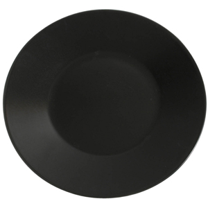 Midnight Wide Rim Plate Black 30.5cm