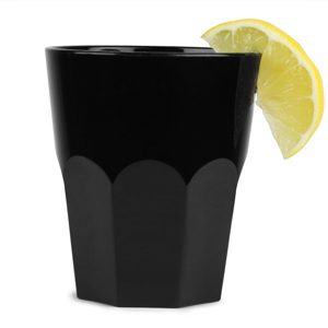 Graniti Plastic Tumblers Black 9.5oz / 270ml