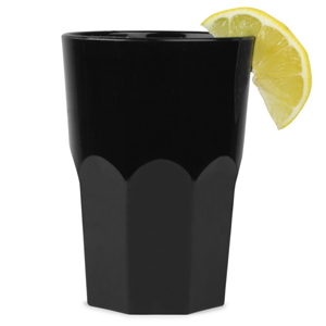 Graniti Plastic Hiball Tumblers Black 12.3oz / 350ml