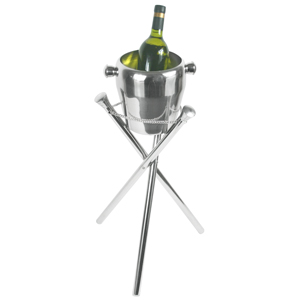 Elia Curved Wine Cooler & Fold-Away Stand