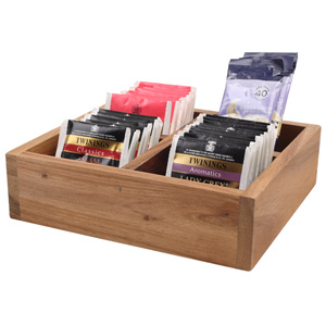 Acacia Divided Display & Tea Box