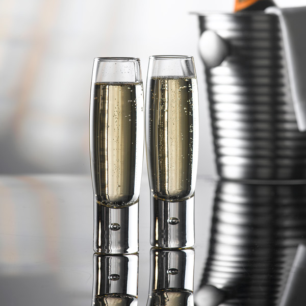 Bubble Champagne Flutes 150ml Stemless
