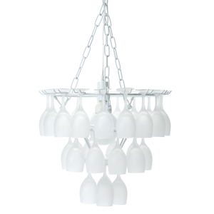 Vino Frosted Wine Glass Chandelier