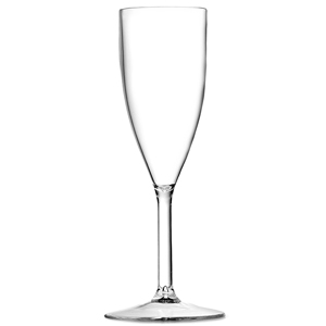 Excel Plastic Champagne Flute 6.5oz / 185ml