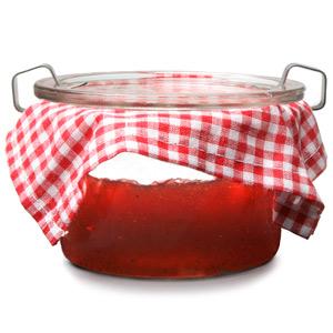 Rustic Strawberry Jam Pot
