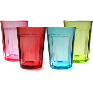 Multi Colour Drinking Glasses