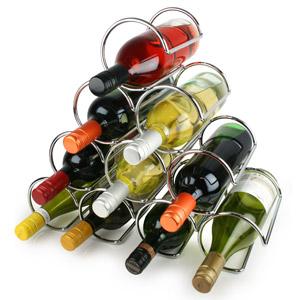 Premier Pyramid 10 Bottle Chrome Wine Rack