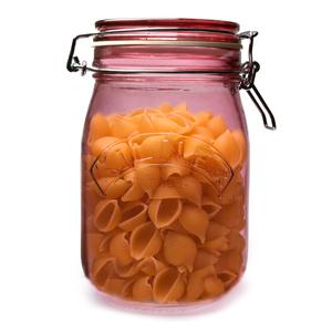 Kilner Round Clip Top Jar Pink 1ltr