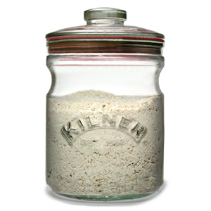 Kilner Push Top Glass Storage Jar 1ltr