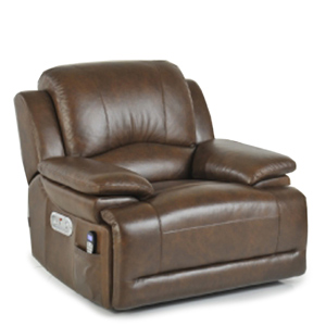 La Z Boy Gizmo Electric Recliner Cognac Brown