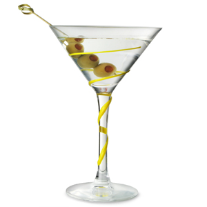 Spyro Martini Glasses Yellow/Frozen Lemon 7.4oz / 210ml