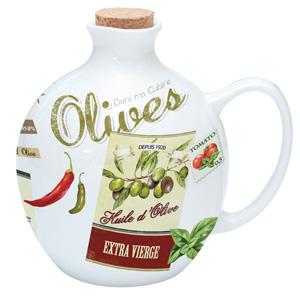 Easy Life Vintage Porcelain Olive Oil Bottle 500ml