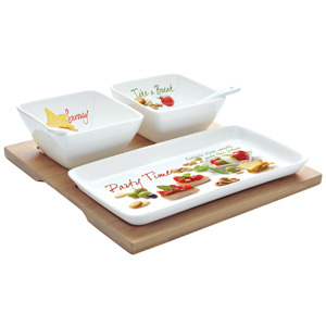 Easy Life Mediterraneo Appetizer Bowls & Tray Set