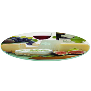 Easy Life Glass Lazy Susan Turntable Cheese Board 32cm