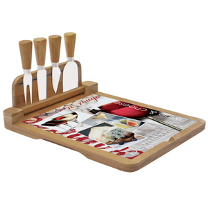 Easy Life Smart Idea Hinged Cheese Board with Cheese Knives 30 x 25cm