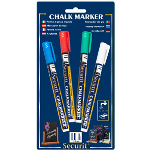 Securit Liquid Chalk Markers Colours