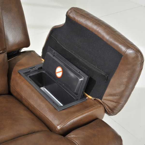 La Z Boy Gizmo Electric Recliner Cognac Brown Drinkstuff