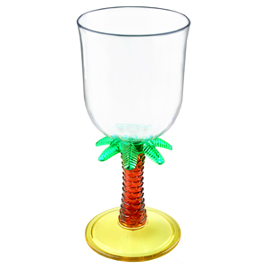 Palm Tree Acrylic Wine Glasses 11oz / 310ml