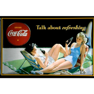 Coca Cola Talk About Refreshing Plaque