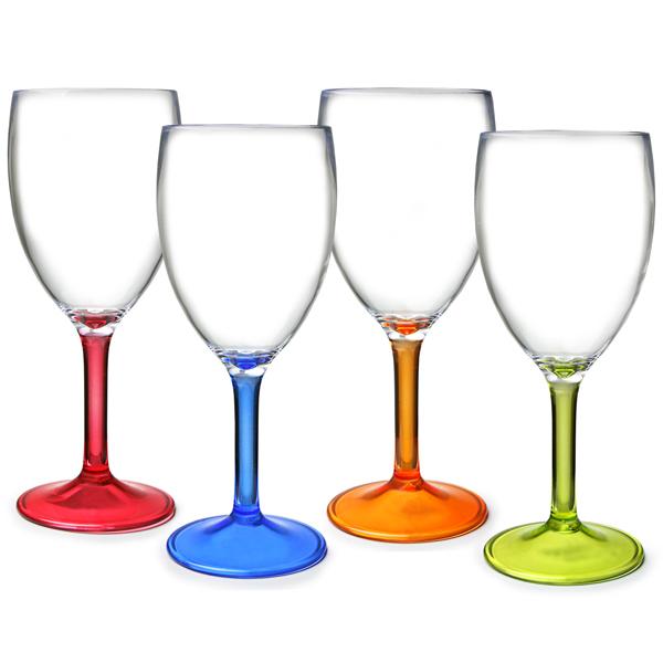 b664b97f7de Flamefield Acrylic Party Wine Glasses 10oz / 290ml | Plastic Wine ...