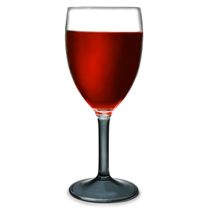 Flamefield Acrylic Wine Glasses Black Stem 10oz  290ml (Case of 48)