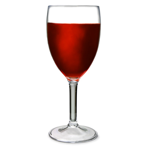 Flamefield Acrylic Wine Glasses Clear 10oz / 290ml
