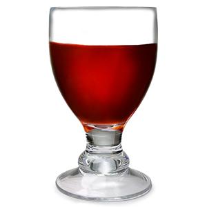 Flamefield Bella Acrylic Wine Goblets Clear 14oz / 400ml