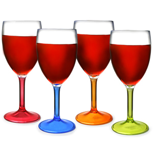 Flamefield Acrylic Party Wine Glasses 10oz / 290ml
