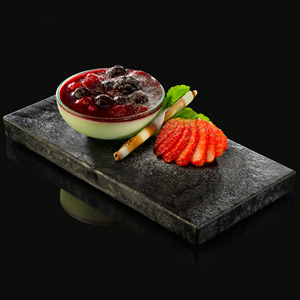 Compass Slate Effect Platters Rectangular 18 x 9cm