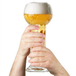Football Trophy Beer Glass 31oz / 900ml