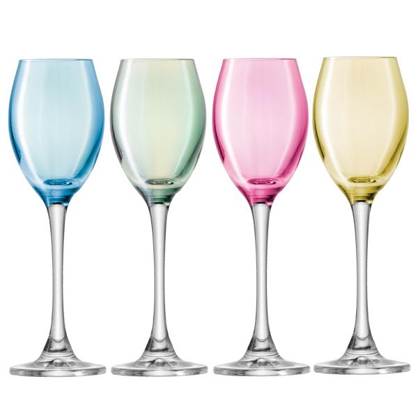 Lsa polka liqueur glasses 70ml drinkstuff for Cocktail 7cl