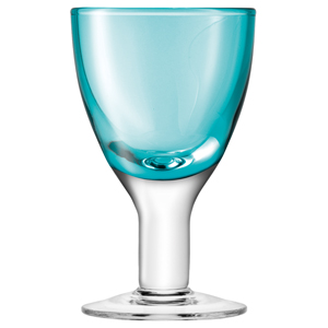 LSA Asher Wine Glasses Turquoise 6.2oz / 175ml