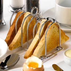 Chrome Horseshoe Toast Rack