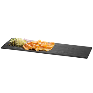 Frostone Melamine Display Tray Black 20.5 x 6.75inch
