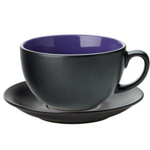 Utopia Barista Cappuccino Cup & Saucer Indigo 14oz / 400ml